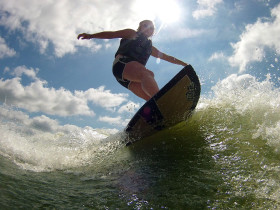 wake surfer photography