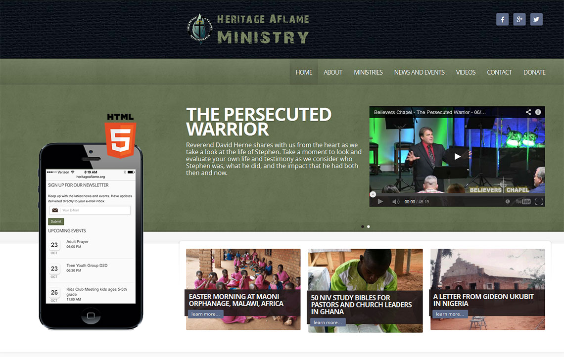 Ministry Website HTML5